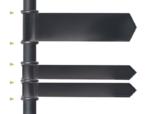 通常サインボードを使用する際は、カバーとして上下に一つずつリングを取り付けます。